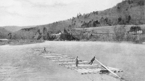 Early Log Raft Down the Delaware River