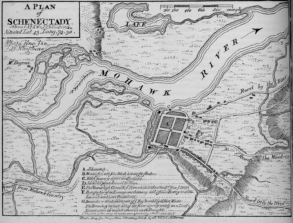 Schenedtady City Map 1750