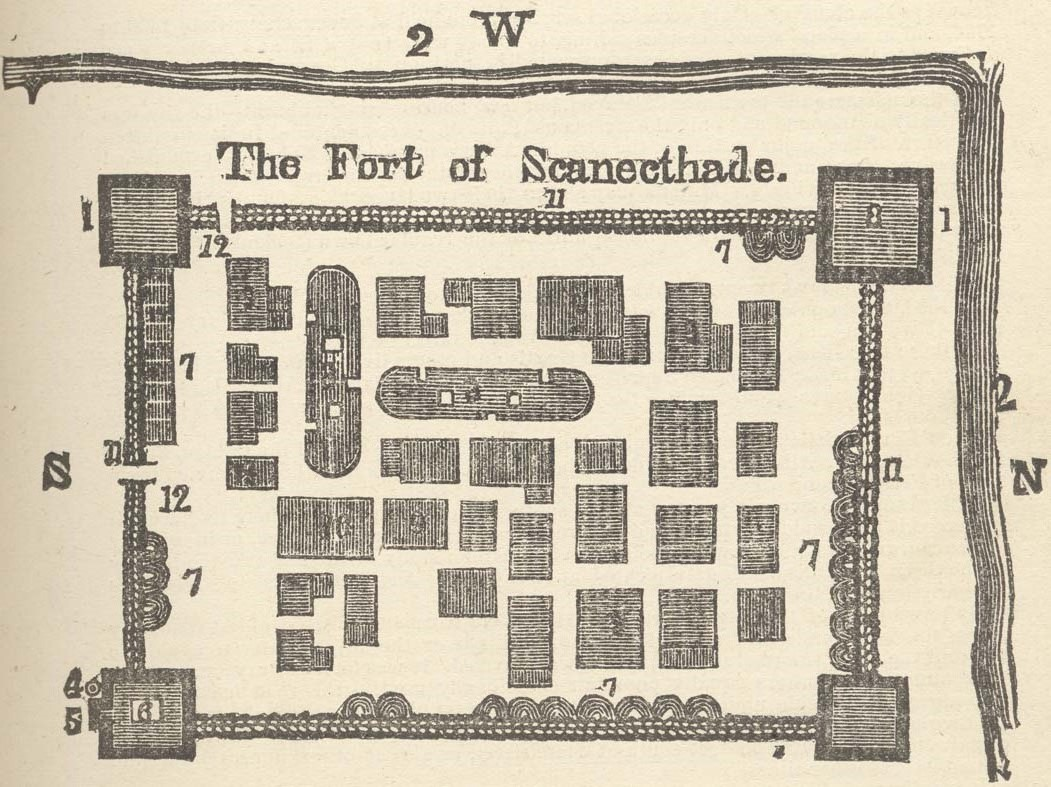 Schenectady -- Mill Map of 1695